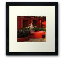 red fountain Framed Print