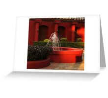 red fountain Greeting Card