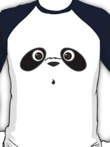 Cute cool panda illustration in white shirt T-Shirt