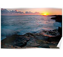 Sunset Boat Harbour Poster
