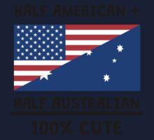 Half Australian 100% Cute One Piece - Short Sleeve