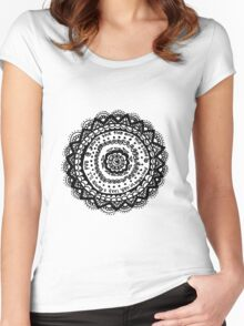 Fire and the Flood Mandala Flower Women's Fitted Scoop T-Shirt