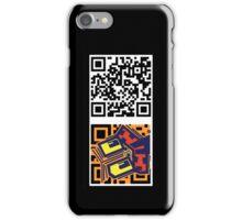 QR code tiki iPhone Case/Skin