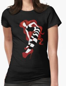Red Stripe Womens Fitted T-Shirt