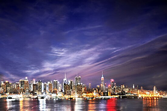 Manhattan Skyline: NYC by brotherbrain
