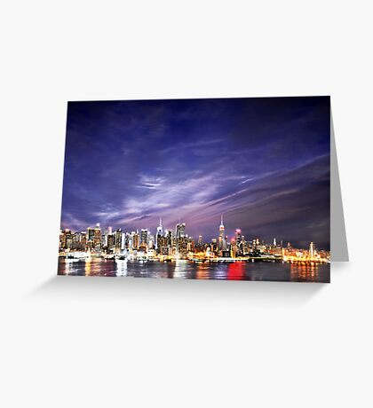 Manhattan Skyline: NYC Greeting Card