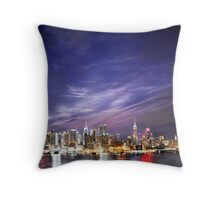 Manhattan Skyline: NYC Throw Pillow