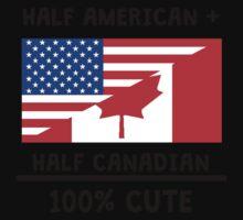 Half Canadian 100% Cute One Piece - Short Sleeve