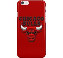Chicago Bulls - 3D Badge over Flag iPhone Case/Skin