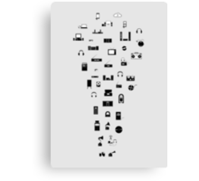 The Evolution of Audio Technology Canvas Print