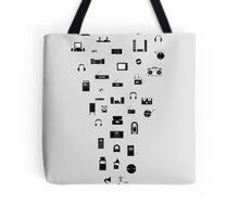The Evolution of Audio Technology Tote Bag