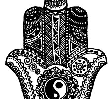 Yin Yang Hamsa by Marlena Penn
