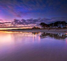 Papamoa surf club pre dawn by Ken Wright