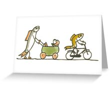 Mommy Fish and Buggy Greeting Card