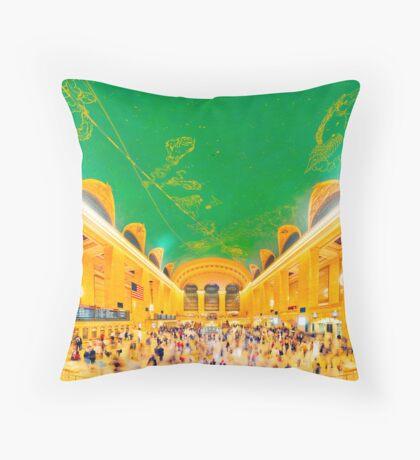 Grand Central Terminal: NYC Throw Pillow