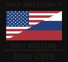 Half Russian 100% Cute Kids Tee