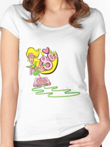 I love the 80's glam rockstar Women's Fitted Scoop T-Shirt