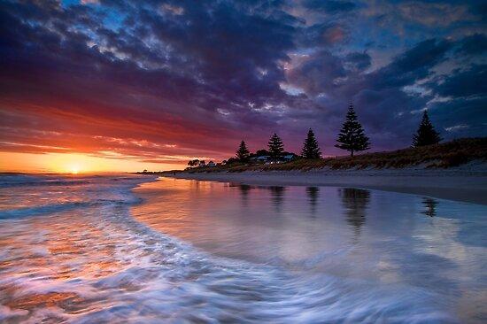 Papamoa Domain Dawn Rush by Ken Wright