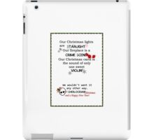 Sherlock Christmas Card iPad Case/Skin