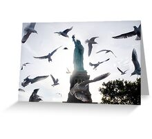 Statue of Liberty with Birds: NYC Greeting Card