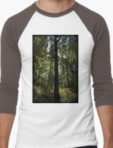 Foliage Silhouette Men's Baseball ¾ T-Shirt