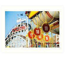 Coney Island Astroland and Cyclone: Brooklyn, NYC Art Print