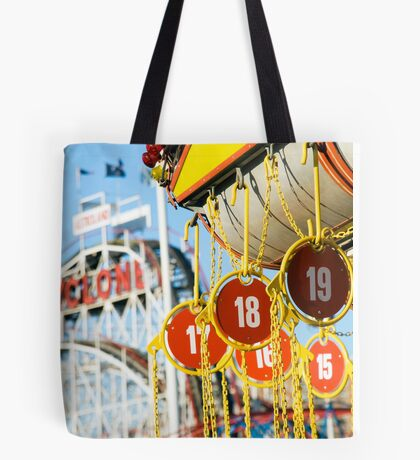Coney Island Astroland and Cyclone: Brooklyn, NYC Tote Bag