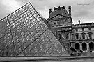 Large Pyramid - Musee du Louvre - Cour Napoléon - Paris - Black and White by Yannik Hay