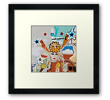 Pop arty tarot inspired collage - the sun Framed Print