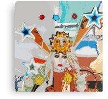 Pop arty tarot inspired collage - the sun Metal Print