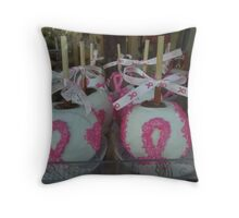 """National Breast Cancer Month"". Throw Pillow"