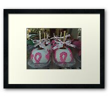 """National Breast Cancer Month"". Framed Print"