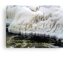 Snow, Ice and Water Canvas Print