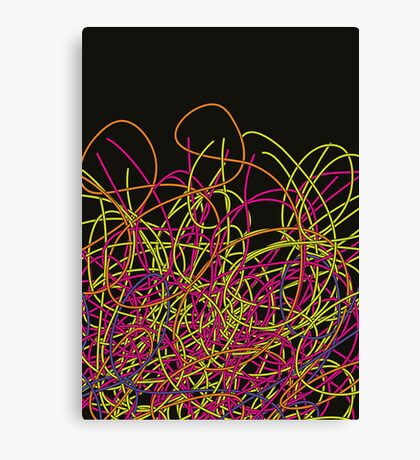 Colorful tangled wires Canvas Print