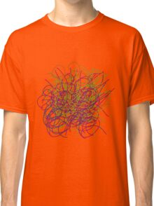 Colorful tangled wires Classic T-Shirt