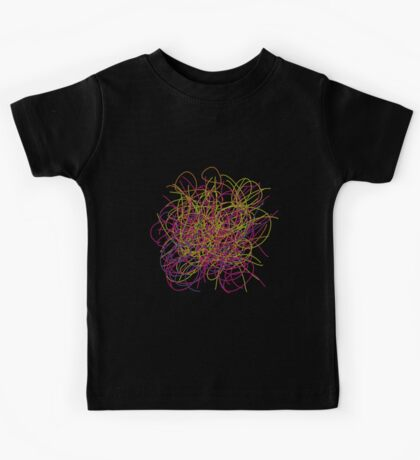 Colorful tangled wires Kids Tee