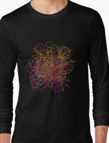 Colorful tangled wires Long Sleeve T-Shirt