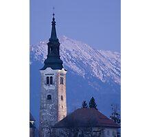 Mountain backdrop Photographic Print