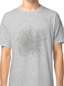 Black and white tangled wires Classic T-Shirt