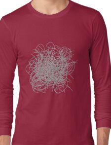 Black and white tangled wires Long Sleeve T-Shirt