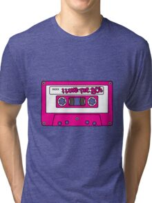 I love the 80's - pink tape Tri-blend T-Shirt