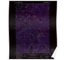 USGS Topo Map Washington State WA Cliff Ridge 240574 1964 24000 Inverted Poster