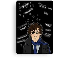 Sherlock drunk Canvas Print