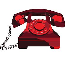 Red Phone Photographic Print
