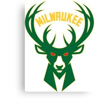 Milwaukee bucks basketball Canvas Print