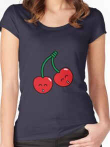Cherry Twins Women's Fitted Scoop T-Shirt