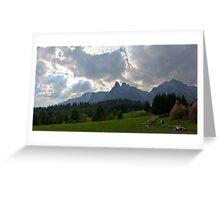Light over mountains Greeting Card