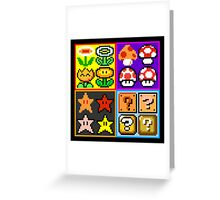 Mario Power-Up Evolution Greeting Card