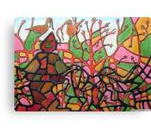 345 - TANGLETOWN - DAVE EDWARDS - COLOURED PENCILS & INK - 2012 Canvas Print
