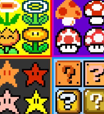 Mario Power-Up Evolution Sticker